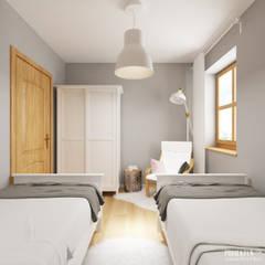 Dom weekendowy w Czorsztynie: styl , w kategorii Sypialnia zaprojektowany przez PRØJEKTYW | Architektura Wnętrz & Design