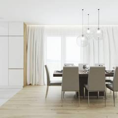 Projekt wnętrz domu jednorodzinnego w Gnojniku: styl , w kategorii Jadalnia zaprojektowany przez PRØJEKTYW | Architektura Wnętrz & Design,