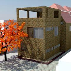 Vista exterior proyecto: Casas de estilo  por DIMA Arquitectura y Construcción