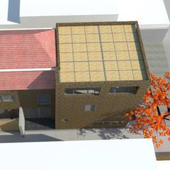Vista superior proyecto: Casas de estilo  por DIMA Arquitectura y Construcción