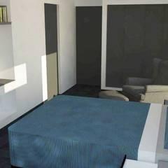 Dormitorio principal: Dormitorios de estilo  por DIMA Arquitectura y Construcción