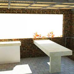 Vista desde terraza superior: Terrazas  de estilo  por DIMA Arquitectura y Construcción