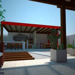 Vista exterior: Terrazas  de estilo  por DIMA Arquitectura y Construcción