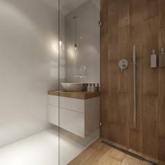 Bathroom by PRØJEKTYW | Architektura Wnętrz & Design, Scandinavian