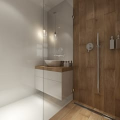 حمام تنفيذ PRØJEKTYW | Architektura Wnętrz & Design , إسكندينافي