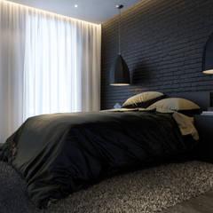 Projekt mieszkania. Kraków Zabłocie: styl , w kategorii Sypialnia zaprojektowany przez PRØJEKTYW | Architektura Wnętrz & Design