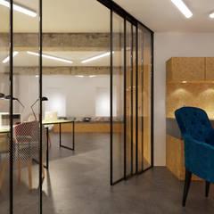 Projekt biura. Kraków Centrum: styl , w kategorii Przestrzenie biurowe i magazynowe zaprojektowany przez PRØJEKTYW | Architektura Wnętrz & Design