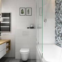Projekt łazienki. Kraków Nowe Czyżyny: styl , w kategorii Łazienka zaprojektowany przez PRØJEKTYW | Architektura Wnętrz & Design