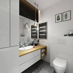 ห้องน้ำ โดย PRØJEKTYW | Architektura Wnętrz & Design,