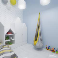 Projekt wnętrz domu jednorodzinnego w Rzeszowie.: styl , w kategorii Pokój dziecięcy zaprojektowany przez PRØJEKTYW   Architektura Wnętrz & Design