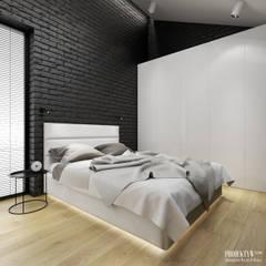 Projekt wnętrz domu jednorodzinnego w Rzeszowie.: styl , w kategorii Sypialnia zaprojektowany przez PRØJEKTYW | Architektura Wnętrz & Design