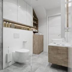 Baños de estilo  por PRØJEKTYW | Architektura Wnętrz & Design, Escandinavo