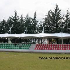Cubiertas para gradas en Toluca: Estadios de estilo  por TENSO DISEÑOS MX