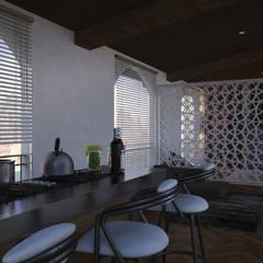 Vista Barra Cocina: Cocinas de estilo  por V Arquitectura