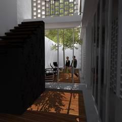 Casa Bernal: Salas / recibidores de estilo minimalista por POMAC Arquitectos