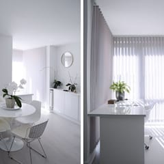 Dining Room and Study: minimalistic Study/office by Collective Works