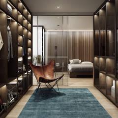 Garderoba połączona z sypialnią: styl , w kategorii Garderoba zaprojektowany przez Komandor - Ekspert od zabudowy wnętrz
