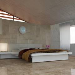 luce: Camera da letto in stile in stile Asiatico di luca pastorino