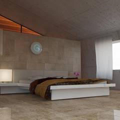 buio: Camera da letto in stile in stile Asiatico di luca pastorino