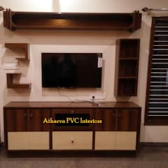 PVC Tv Showcase: modern  by Atharva PVC Interiors,Modern Plastic