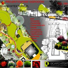 Projekt Ogrodu: styl , w kategorii Ogród zaprojektowany przez Bioarchitektura  - Ogrody, Krajobraz, Zieleń we wnętrzach