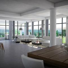 Casa 17: Salas / recibidores de estilo  por Vivian Dembo Arquitectura, Moderno Mármol