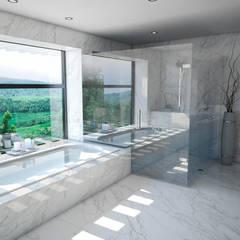 Casa 17: Baños de estilo  por Vivian Dembo Arquitectura