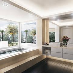 Villa de Lujo | Marbella Club: Baños de estilo  de DIKA estudio