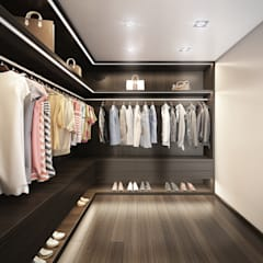 Dressing room by DIKA estudio, Minimalist