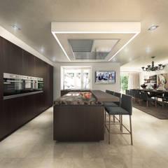 Villa de Lujo   Marbella Club: Cocinas de estilo  de DIKA estudio