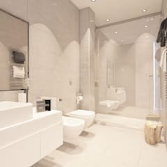 Bathroom by DIKA estudio, Mediterranean