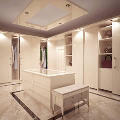 appartamento sul lungomare di Tel Aviv: Spogliatoio in stile  di Oliviero Godi & Dorit Mizrahi Exposure Architects