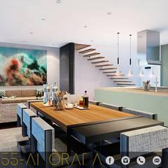 LG/L2/M55/AMORADA : Comedores de estilo industrial por ADC arquitectos