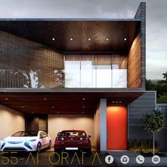LG/L2/M55/AMORADA : Casas de estilo industrial por ADC arquitectos