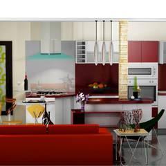 COCINA: Cocinas de estilo  por ESTUDIO DE ARQUITECTURA C.A