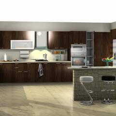 COCINA: Cocinas de estilo  por ESTUDIO DE ARQUITECTURA C.A,