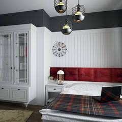 Öykü İç Mimarlık – Villa Projelerimiz (3D):  tarz Yatak Odası