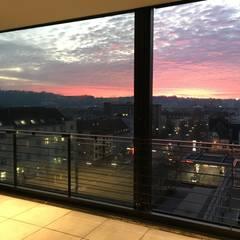 Sonnenuntergang:  Terrasse von Hauser - Architektur