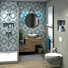 mediterranean Bathroom by MJ Intérieurs