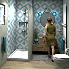 Salle d'eau esprit méditerranéen: Salle de bains de style  par MJ Intérieurs