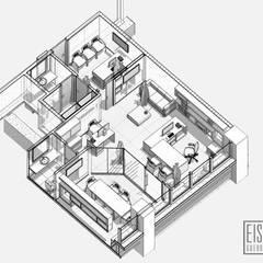 Diseño y remodelación de Oficina A12.: Oficinas de estilo  por Eisen Arquitecto, Minimalista