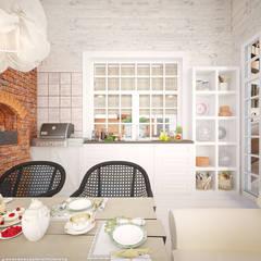 Terrace by Дизайн-бюро Анны Шаркуновой 'East-West'