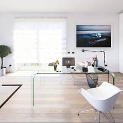 Un attico in stile loft in Milano: Studio in stile in stile Moderno di Annalisa Carli