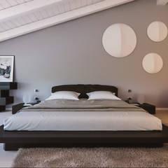 Un attico in stile loft in Milano: Camera da letto in stile  di Annalisa Carli