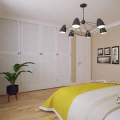 Dormitorios de estilo  por Студия дизайна интерьера Маши Марченко