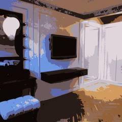 Stok Mimarlık / Tasarım / Atölye – Ata Demirer Evi:  tarz Yatak Odası