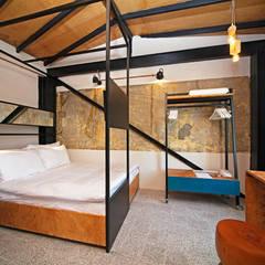Stok Mimarlık / Tasarım / Atölye – Raven Suites: endüstriyel tarz tarz Yatak Odası