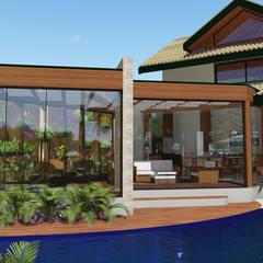 Projeto Arquitetura Residencial DI15: Spas rústicos por arquiteto bignotto