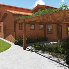 Garajes y galpones de estilo rústico por arquiteto bignotto