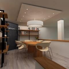 Diseño Interior para instalaciones de CAMARA TV: Estudios y despachos de estilo  por SIMETRIC ARQUITECTURA INTERIOR